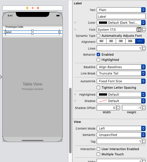 【Swift4】UITableViewの基本のき。