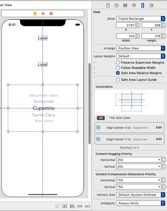 【Swift5】UIPickerViewで2列のピッカーを作る。